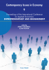 Cover for Contemporary Issues in Economy. Proceedings of the International Conference on Applied Economics: Entrepreneurship and Management